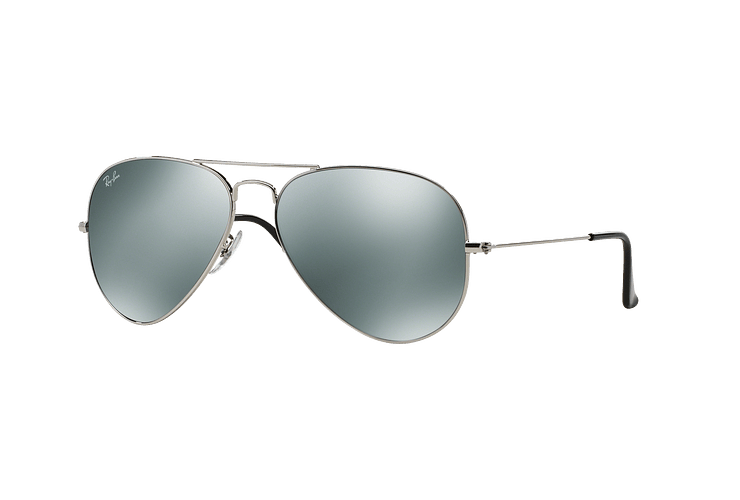 Ray Ban Aviador Silver lente Crystal Grey Mirror cod. RB3025 W3277 58 - Image 1