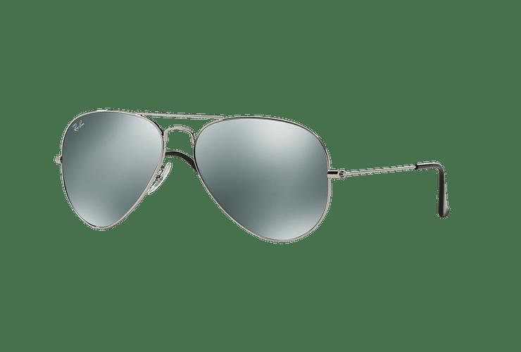 Ray Ban Aviador Silver lente Crystal Grey Mirror cod. RB3025 W3277 58 - Image 1