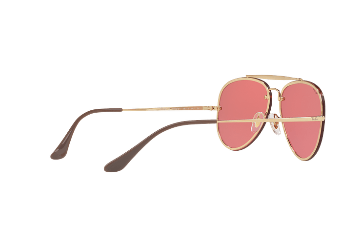 Ray Ban Aviator Blaze Gold lente Pink Mirror cod. RB3584N 9052E4 58 - Image 8