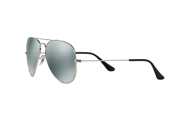 Ray Ban Aviador Silver lente Crystal Grey Mirror cod. RB3025 W3277 58 - Image 2