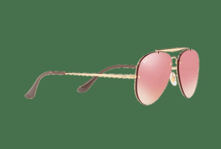Ray Ban Aviator Blaze Gold lente Pink Mirror cod. RB3584N 9052E4 58 - Image 10