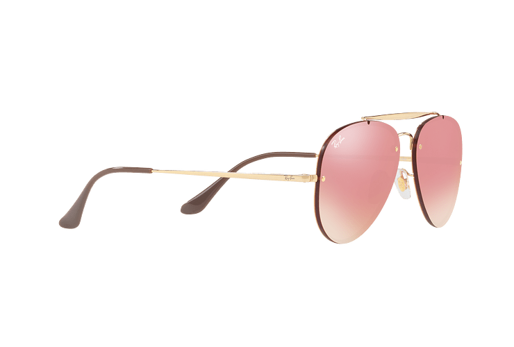 Ray-Ban Aviator Blaze Gold lente Pink Mirror cod. RB3584N 9052E4 58 - Image 10