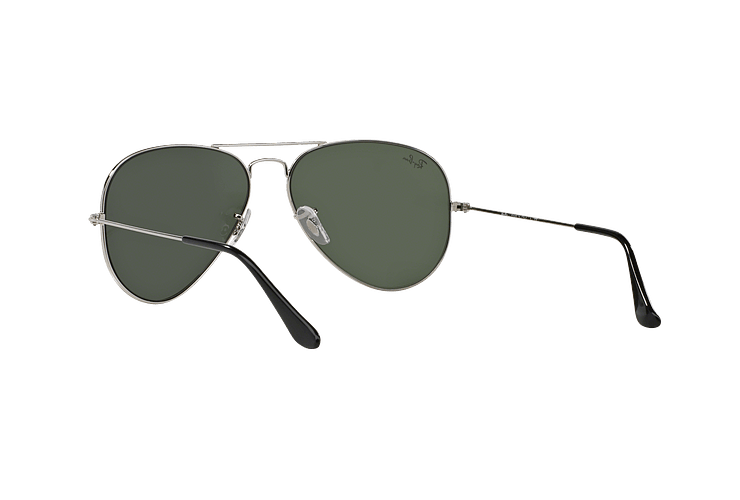 Ray Ban Aviador Silver lente Crystal Grey Mirror cod. RB3025 W3277 58 - Image 5