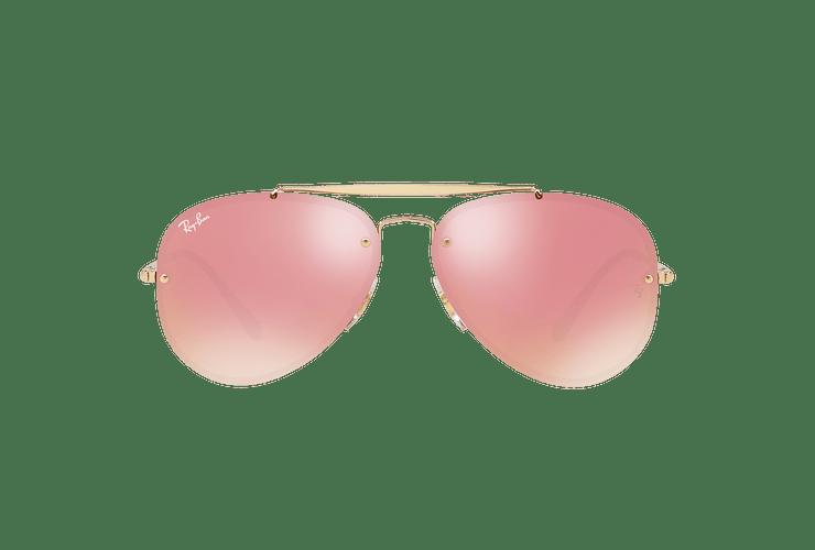 Ray Ban Aviator Blaze Gold lente Pink Mirror cod. RB3584N 9052E4 58 - Image 12