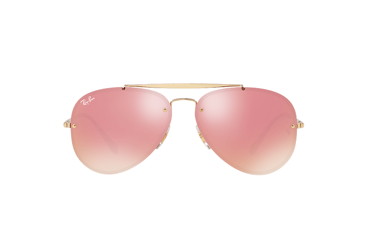 Ray Ban Aviator Blaze Gold lente Pink Mirror cod. RB3584N 9052E4 58 - Image 12