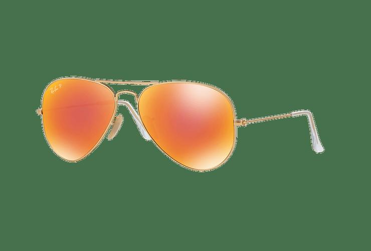 Ray Ban Aviador Matte Gold lente Red mirror Polarized cod. RB3025 112/4D 58 - Image 1