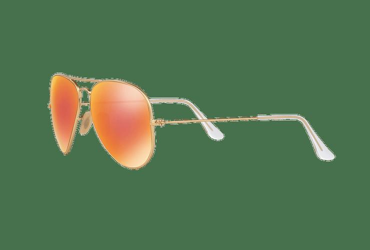 Ray Ban Aviador Matte Gold lente Red mirror Polarized cod. RB3025 112/4D 58 - Image 2