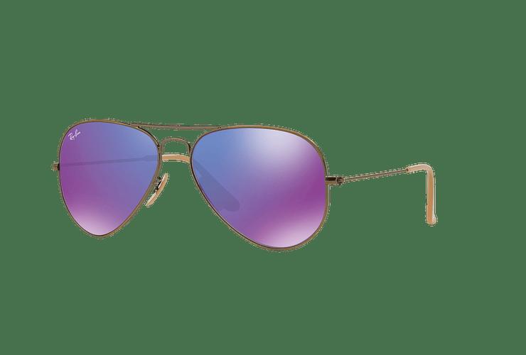 Ray Ban Aviador Bronze-Copper lente Purple mirror cod. RB3025 167/1M 58 - Image 1