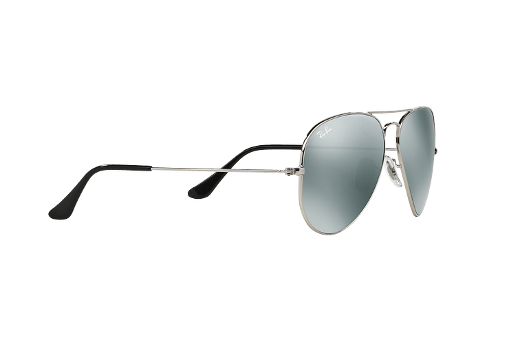Ray Ban Aviador Silver lente Crystal Grey Mirror cod. RB3025 W3277 58 - Image 10