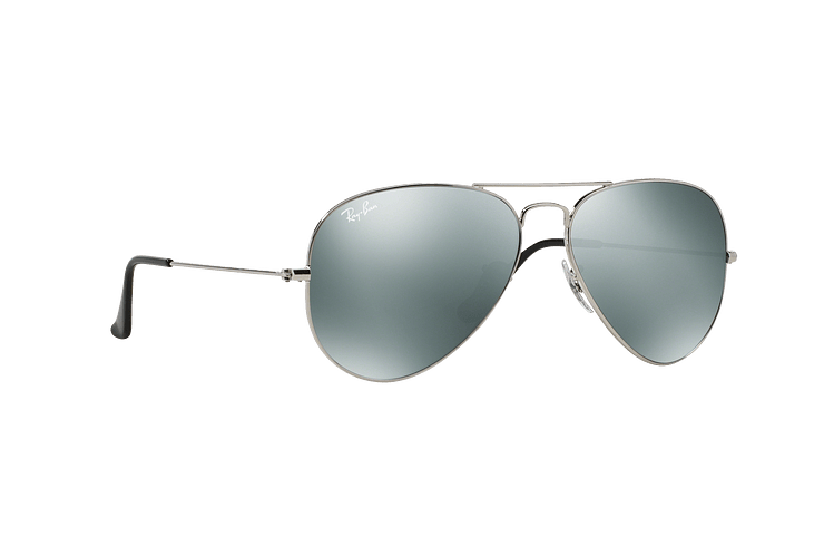 Ray Ban Aviador Silver lente Crystal Grey Mirror cod. RB3025 W3277 58 - Image 11