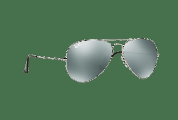 Ray Ban Aviador Silver lente Crystal Grey Mirror cod. RB3025 W3277 58 - Image 11