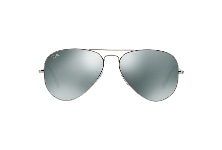 Ray Ban Aviador Silver lente Crystal Grey Mirror cod. RB3025 W3277 58 - Image 12