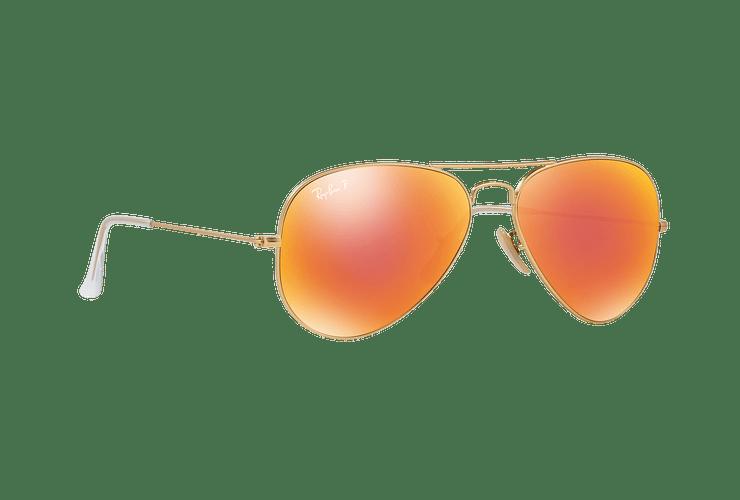 Ray Ban Aviador Matte Gold lente Red mirror Polarized cod. RB3025 112/4D 58 - Image 11