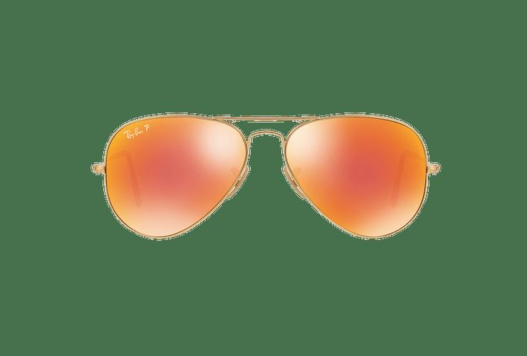 Ray Ban Aviador Matte Gold lente Red mirror Polarized cod. RB3025 112/4D 58 - Image 12