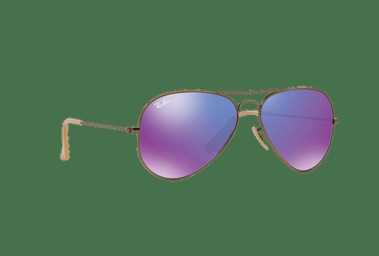 Ray Ban Aviador Bronze-Copper lente Purple mirror cod. RB3025 167/1M 58 - Image 11