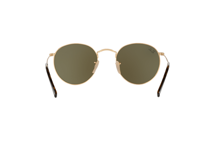 Ray Ban Round Metal Shiny Gold lente Light Blue Flash cod. RB3447N 001/9O 50 - Image 6