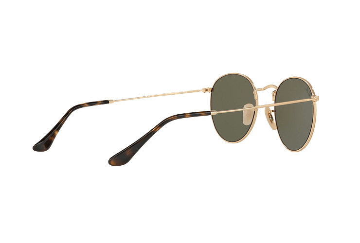 Ray Ban Round Metal Shiny Gold lente Light Blue Flash cod. RB3447N 001/9O 50 - Image 8