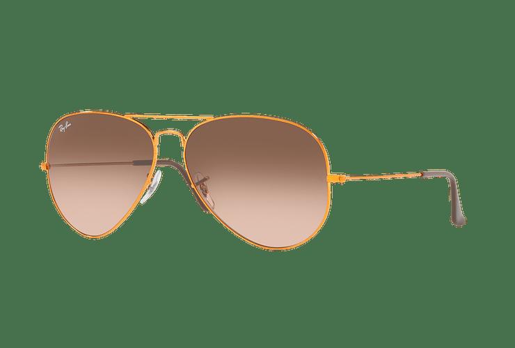 Ray Ban Aviador Shiny bronze lente Pink Gradient Brown cod. RB3026 9001A5 62 - Image 1