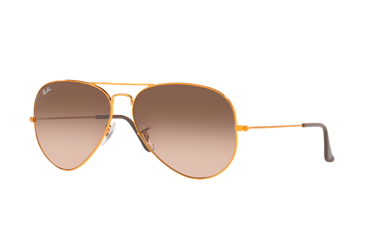 Ray Ban Aviador Shiny bronze lente Pink Gradient Brown cod. RB3026 9001A5 62 - Image 1