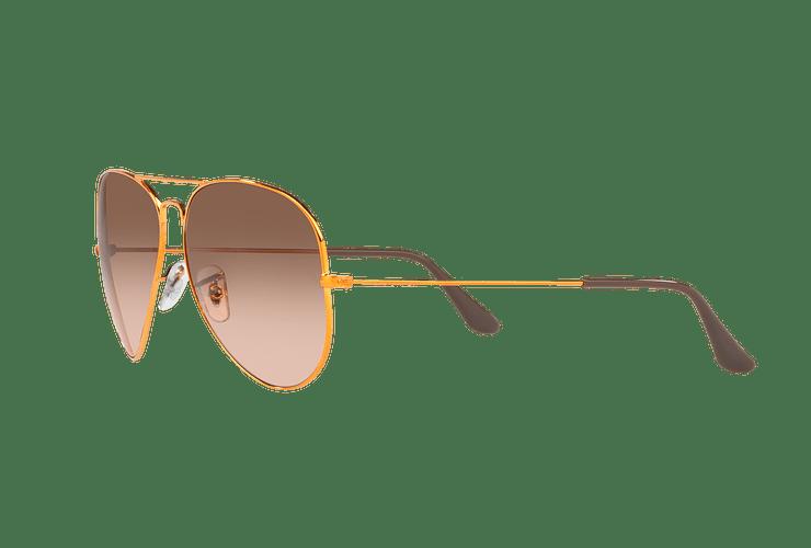 Ray Ban Aviador Shiny bronze lente Pink Gradient Brown cod. RB3026 9001A5 62 - Image 2