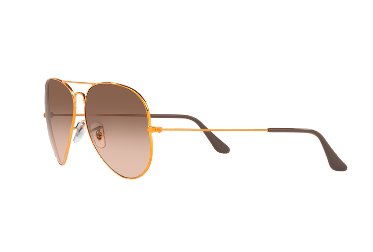 Ray Ban Aviador Shiny bronze lente Pink Gradient Brown cod. RB3026 9001A5 62 - Image 2