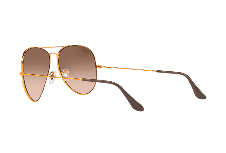 Ray Ban Aviador Shiny bronze lente Pink Gradient Brown cod. RB3026 9001A5 62 - Image 4