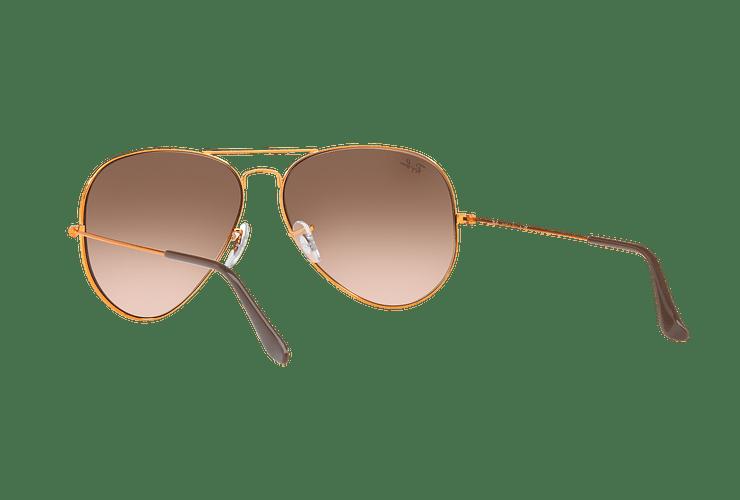 Ray Ban Aviador Shiny bronze lente Pink Gradient Brown cod. RB3026 9001A5 62 - Image 5