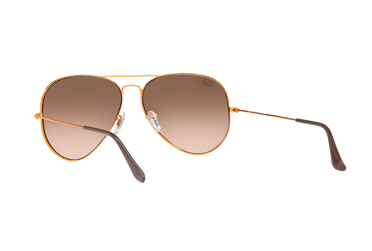 Ray Ban Aviador Shiny bronze lente Pink Gradient Brown cod. RB3026 9001A5 62 - Image 5