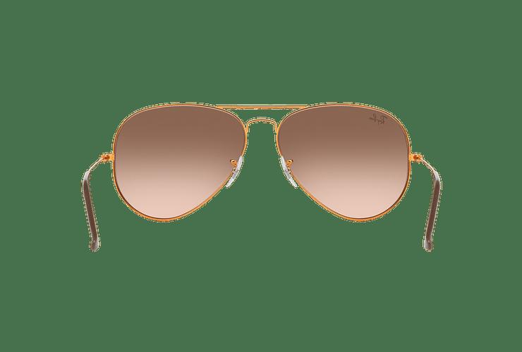 Ray Ban Aviador Shiny bronze lente Pink Gradient Brown cod. RB3026 9001A5 62 - Image 6