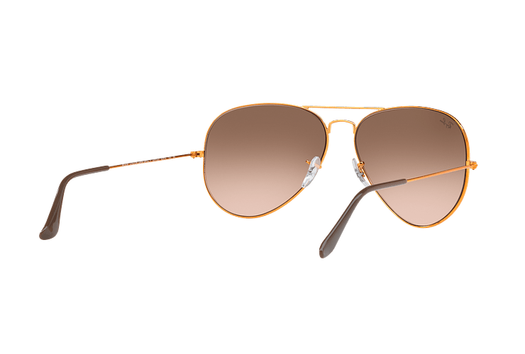 Ray Ban Aviador Shiny bronze lente Pink Gradient Brown cod. RB3026 9001A5 62 - Image 7