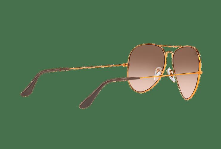 Ray Ban Aviador Shiny bronze lente Pink Gradient Brown cod. RB3026 9001A5 62 - Image 8