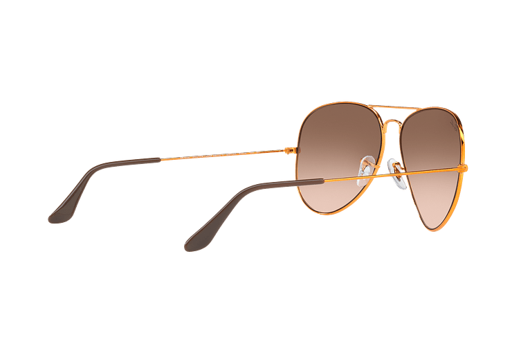 Ray Ban Aviador Shiny bronze lente Pink Gradient Brown cod. RB3026 9001A5 62 - Image 8