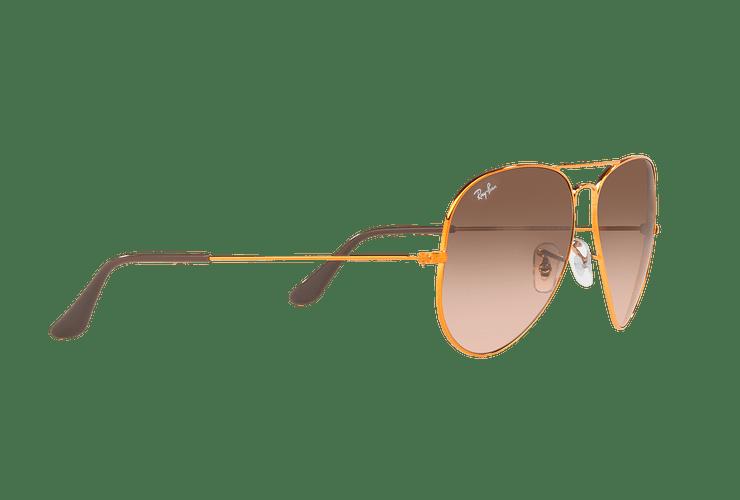 Ray Ban Aviador Shiny bronze lente Pink Gradient Brown cod. RB3026 9001A5 62 - Image 10