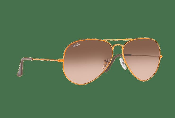 Ray Ban Aviador Shiny bronze lente Pink Gradient Brown cod. RB3026 9001A5 62 - Image 11