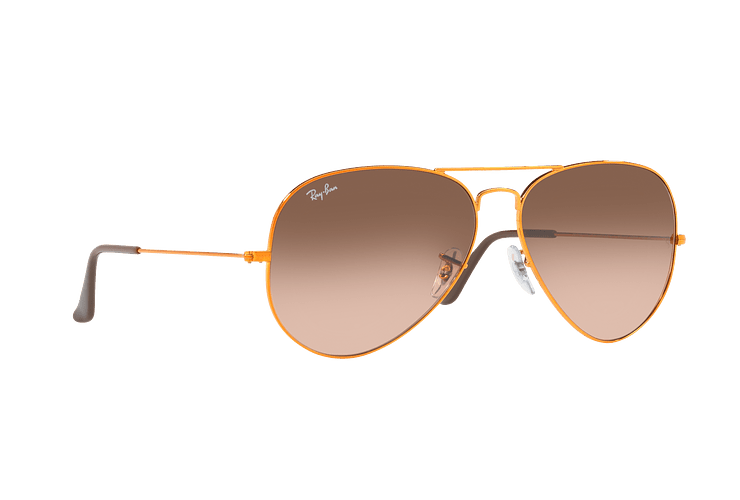 Ray Ban Aviador Shiny bronze lente Pink Gradient Brown cod. RB3026 9001A5 62 - Image 11