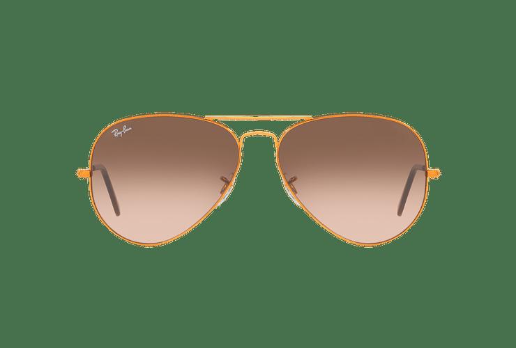 Ray Ban Aviador Shiny bronze lente Pink Gradient Brown cod. RB3026 9001A5 62 - Image 12