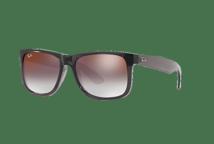 Ray Ban Justin Trasparent Grey lente Gradient Mirror Red cod. RB4165 606/U0 54 - Image 1