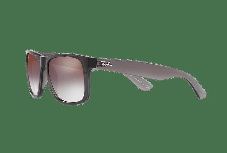 Ray Ban Justin Trasparent Grey lente Gradient Mirror Red cod. RB4165 606/U0 54 - Image 2