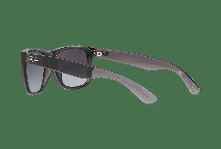 Ray Ban Justin Trasparent Grey lente Gradient Mirror Red cod. RB4165 606/U0 54 - Image 4