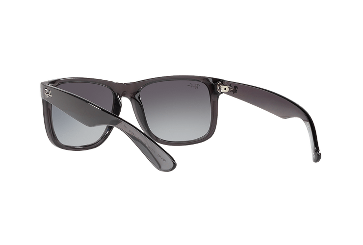 Ray Ban Justin Trasparent Grey lente Gradient Mirror Red cod. RB4165 606/U0 54 - Image 5