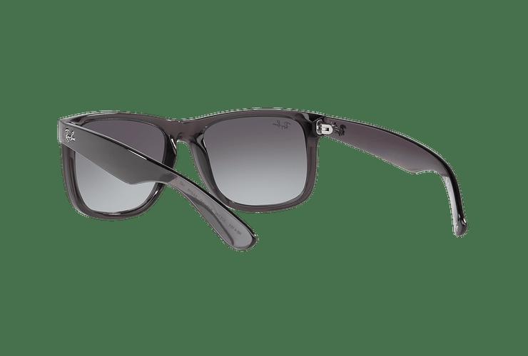 Ray Ban Justin Trasparent Grey lente Gradient Mirror Red cod. RB4165 606/U0 54 - Image 5