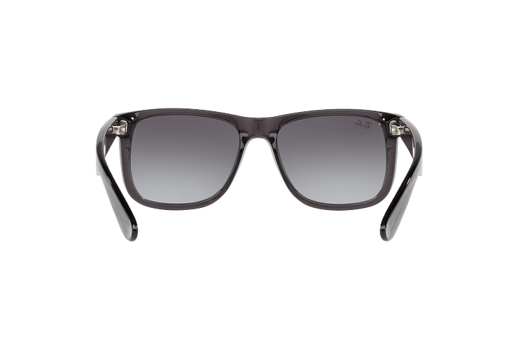 Ray Ban Justin Trasparent Grey lente Gradient Mirror Red cod. RB4165 606/U0 54 - Image 6