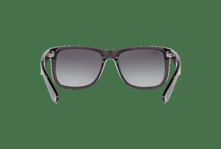 Ray Ban Justin Trasparent Grey lente Gradient Mirror Red cod. RB4165 606/U0 54 - Image 6