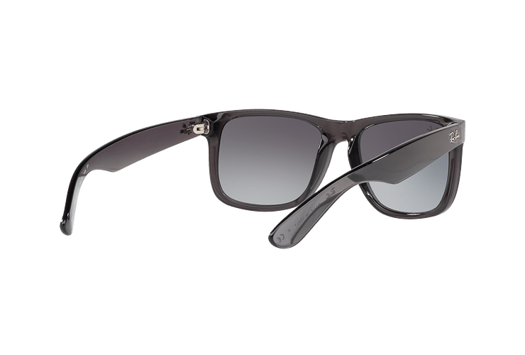 Ray Ban Justin Trasparent Grey lente Gradient Mirror Red cod. RB4165 606/U0 54 - Image 7