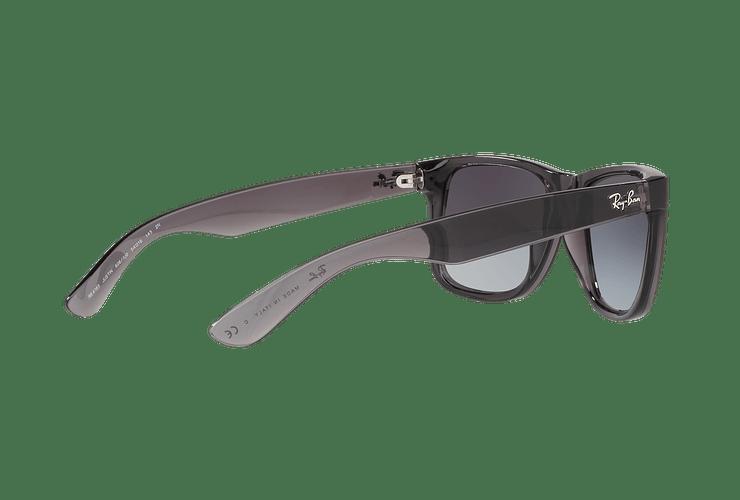 Ray Ban Justin Trasparent Grey lente Gradient Mirror Red cod. RB4165 606/U0 54 - Image 8