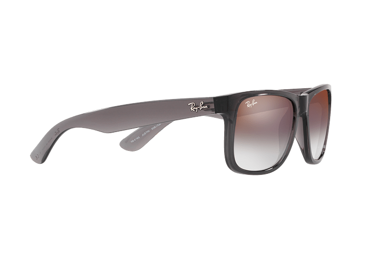 Ray Ban Justin Trasparent Grey lente Gradient Mirror Red cod. RB4165 606/U0 54 - Image 10