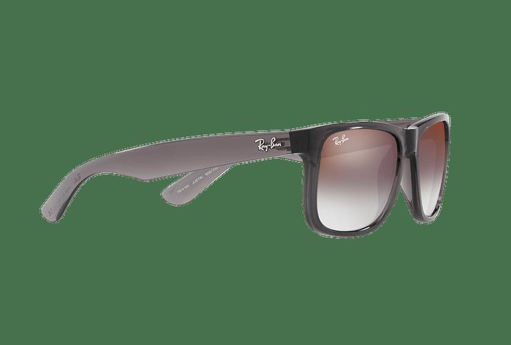 Ray Ban Justin Trasparent Grey lente Gradient Mirror Red cod. RB4165 606/U0 54 - Image 10