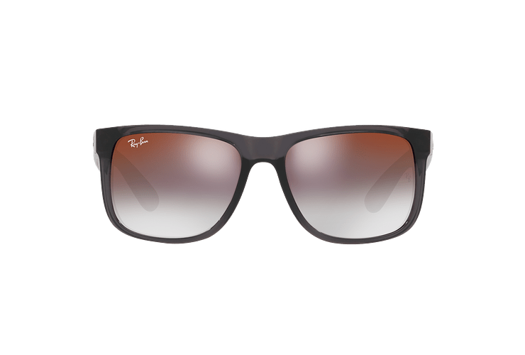 Ray Ban Justin Trasparent Grey lente Gradient Mirror Red cod. RB4165 606/U0 54 - Image 12