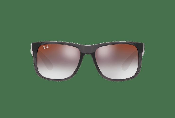 Ray Ban Justin Trasparent Grey lente Gradient Mirror Red cod. RB4165 606/U0 54 - Image 12