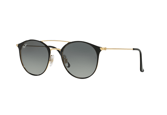 Ray Ban Round RB3546 Gold Top Black lente Grey Gradient cod. RB3546 187/71 49